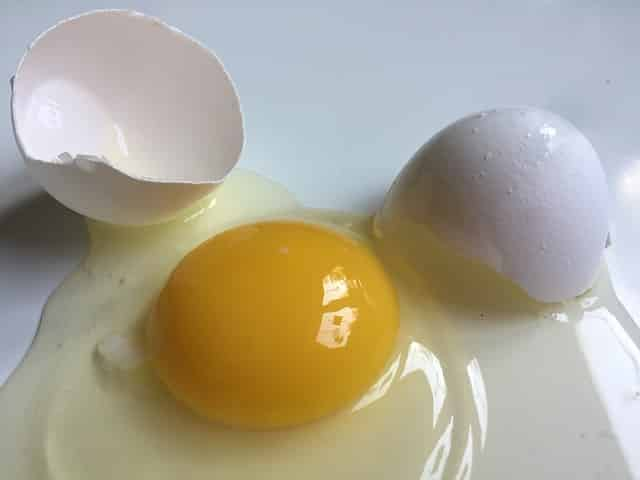 crema de clara de huevo