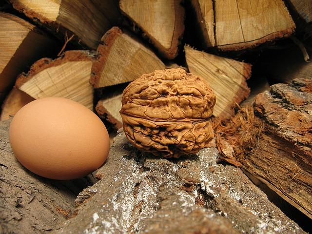 huevos con nueces