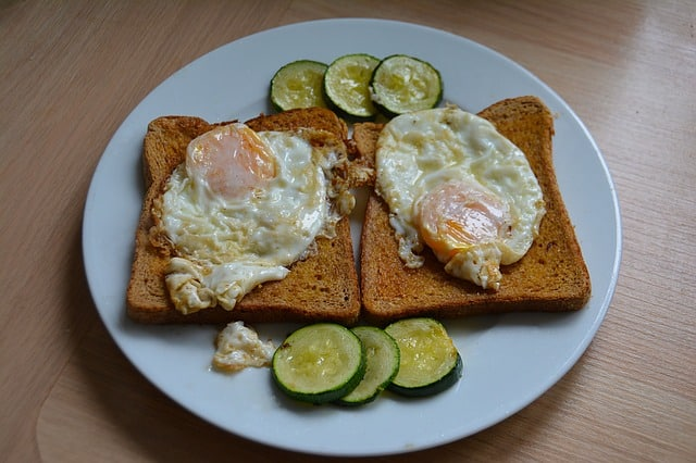comer huevo después del ejercicio
