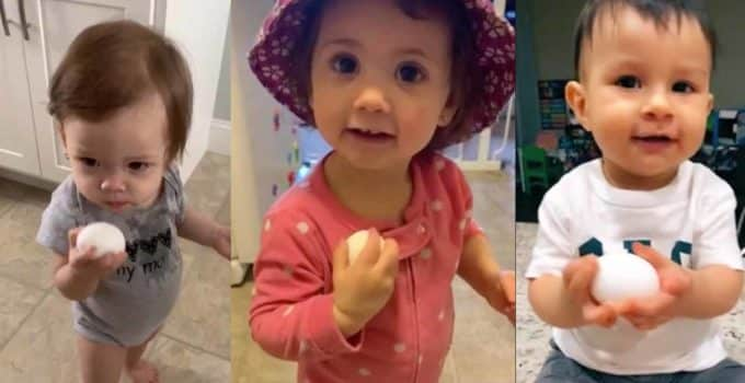 video de bebe con huevo en tiktok