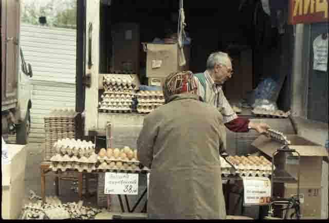 vendedores de huevos